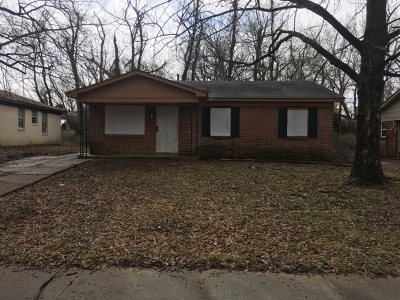 Memphis TN Single Family Home For Sale: $39,900