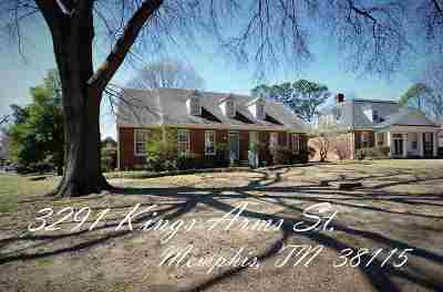 Memphis Single Family Home For Sale: 3291 Kings Arms