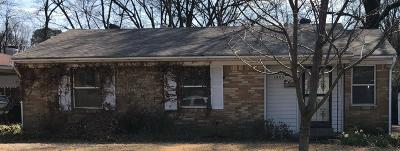 Memphis TN Single Family Home For Sale: $119,000