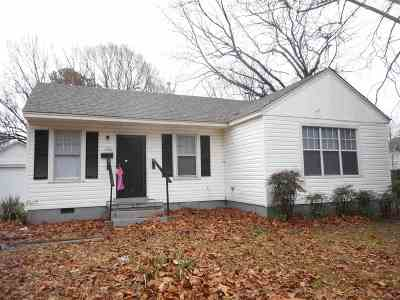 Memphis TN Single Family Home For Sale: $54,900