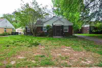 Memphis TN Single Family Home Contingent: $82,500