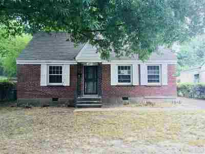Memphis TN Single Family Home For Sale: $20,500