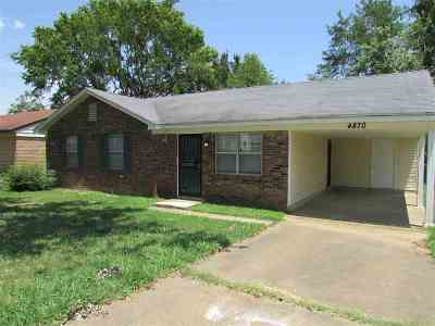 Memphis Single Family Home For Sale: 4870 Bradford