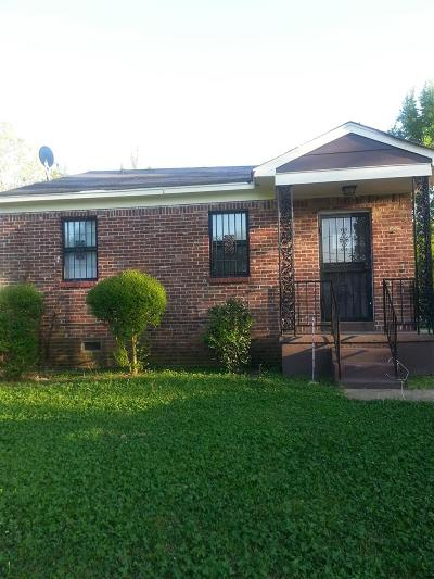 Memphis TN Single Family Home For Sale: $35,900