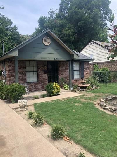 Memphis TN Single Family Home For Sale: $23,000