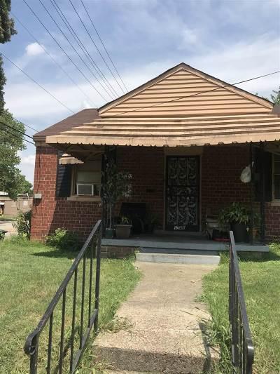 Memphis TN Single Family Home For Sale: $25,000