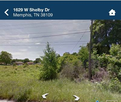 Memphis Residential Lots & Land For Sale: 1629 W Shelby