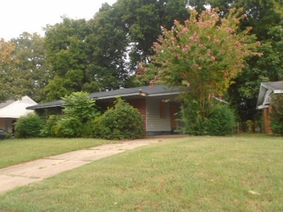 Memphis TN Single Family Home For Sale: $38,000