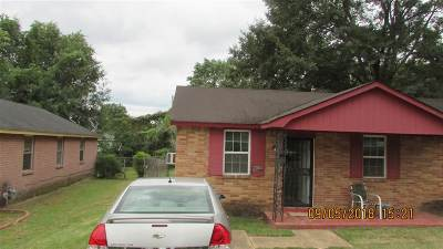 Memphis TN Single Family Home For Sale: $31,000