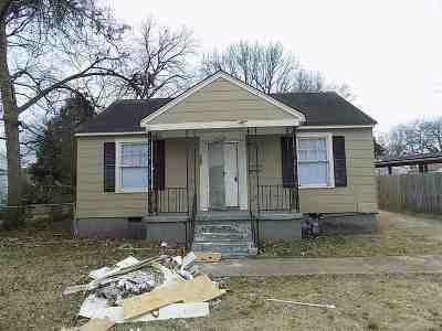 Memphis TN Single Family Home For Sale: $48,900