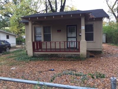 Memphis TN Single Family Home For Sale: $15,900