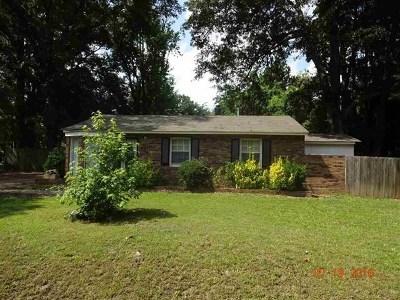 Memphis TN Single Family Home For Sale: $70,500