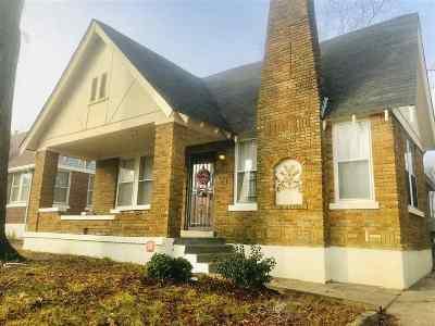 Memphis TN Single Family Home For Sale: $108,000