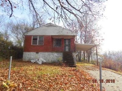 Memphis TN Single Family Home For Sale: $15,000