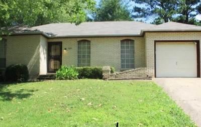 Memphis TN Single Family Home For Sale: $82,000