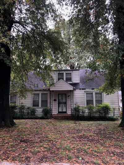 Memphis TN Single Family Home For Sale: $139,000