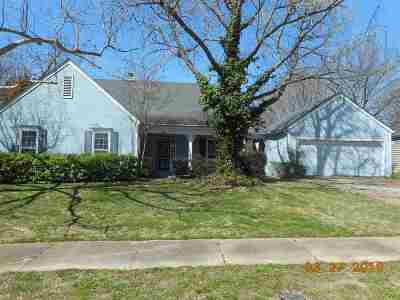 Memphis Single Family Home Contingent: 2829 McVay Trail