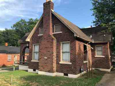 Memphis TN Single Family Home For Sale: $40,000