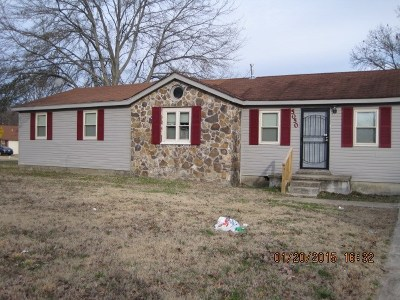 Memphis TN Single Family Home For Sale: $72,000
