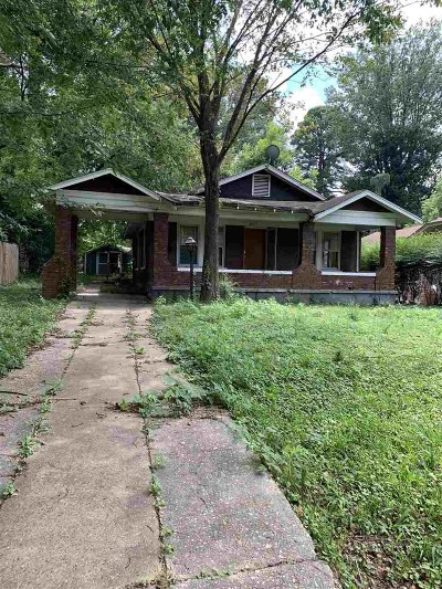Memphis TN Single Family Home For Sale: $19,000