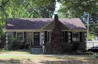 Memphis TN Single Family Home For Sale: $85,000