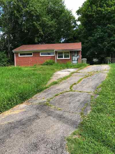 Morristown TN Single Family Home For Sale: $64,000