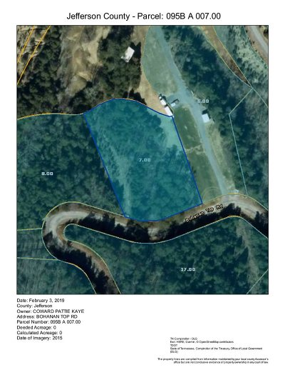 Grainger County, Hamblen County, Hawkins County, Jefferson County Residential Lots & Land For Sale: Parcel 7 Bohanan Top Rd