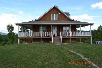 Single Family Home For Sale: 2176 Hurricane Rd. Huntsville, Tn