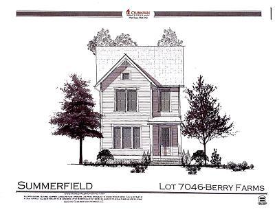 Berry Farms, Berry Farms Lot 7035, Berry Farms Lot 7046, Berry Farms, Lot 111, Berry Farms, Lot 125, Berry Farms, Lot 126, Berry Farms, Lot 160, Berry Farms, Lot 161 Single Family Home For Sale: 2036 General Martin Ln.
