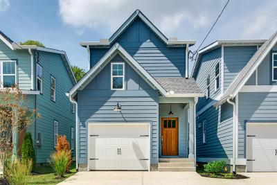 East Nashville Single Family Home For Sale: 1611 A Porter Ave
