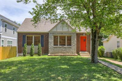 East Nashville Single Family Home Under Contract - Showing: 2418 Inga St
