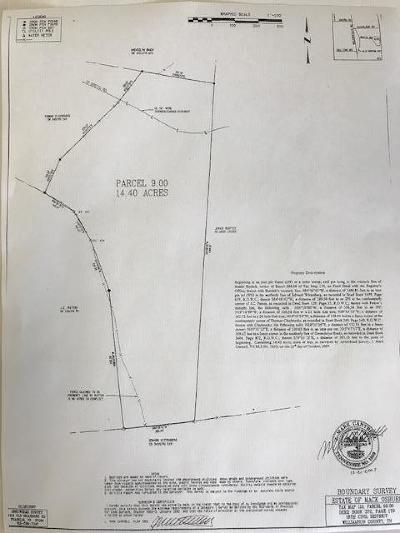Williamson County Residential Lots & Land For Sale: Bostic