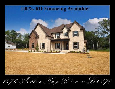 Single Family Home For Sale: 1476 Ansley Kay Drive - Lot 176