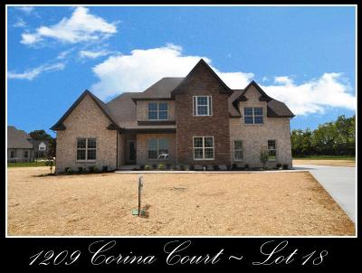 Single Family Home For Sale: 1209 Corina Court - Lot 18
