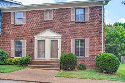 Williamson County Condo/Townhouse For Sale: 109 Brentwood Pointe