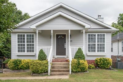 Nashville Single Family Home For Sale: 408 McAdoo Ave