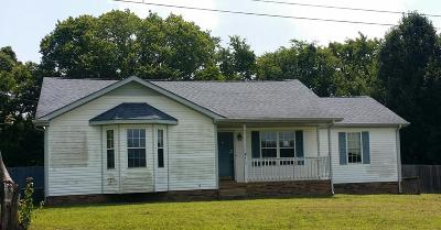 Clarksville Single Family Home Under Contract - Showing: 213 Cummings Creek Rd