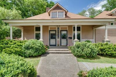 Nashville Single Family Home For Sale: 836 Bradford Ave