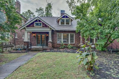 Nashville Single Family Home For Sale: 1719 Sweetbriar Ave