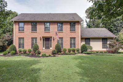Franklin Single Family Home For Sale: 1524 Cabot Dr