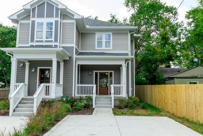 Nashville Single Family Home Under Contract - Showing: 1124 B Leland