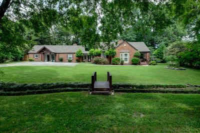 Nashville Single Family Home For Sale: 1217 Winding Way Rd