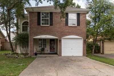 Franklin Single Family Home For Sale: 417 Newbary Ct