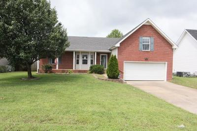 Christian County, Ky, Todd County, Ky, Montgomery County Single Family Home For Sale: 1564 Cedar Springs Cir