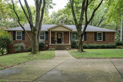 Brentwood Single Family Home Under Contract - Showing: 1326 Lipscomb Dr