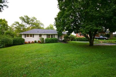 Nashville Single Family Home For Sale: 3512 Pleasant Valley Rd