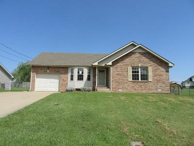 Christian County, Ky, Todd County, Ky, Montgomery County Single Family Home For Sale: 1273 Silver Star Dr