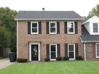 Rutherford County Rental For Rent: 1813 Lexington Trace