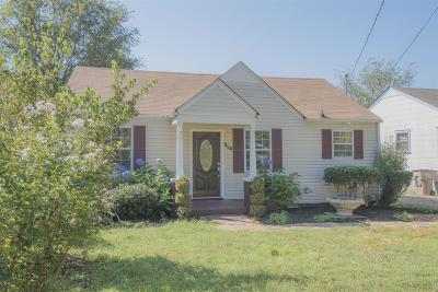 Davidson County Single Family Home For Sale: 914 Crockett St
