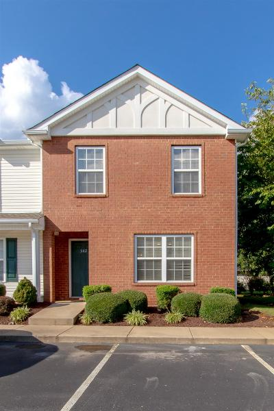 Murfreesboro Condo/Townhouse For Sale: 342 Arapaho Dr